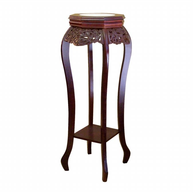 Ore International H-33 Cherry Flower Stand with Ceramic Top