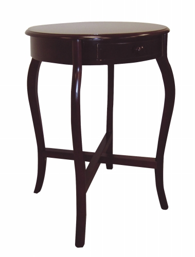 Ore International H-38 Round Cherry End Table