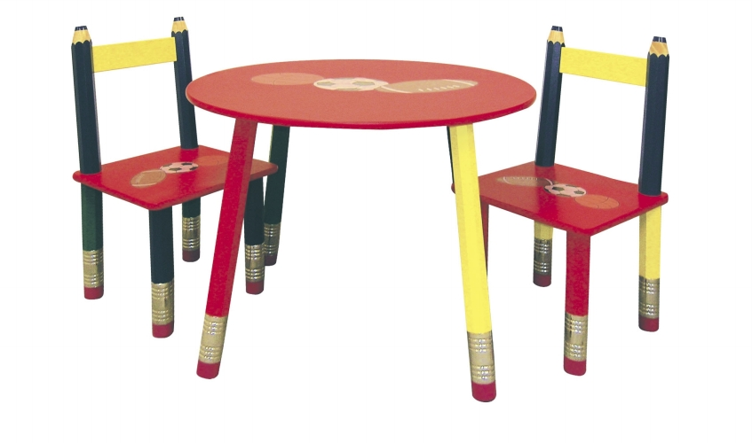 Ore International H-58 Kids Table 3-pc. Set - Red Table