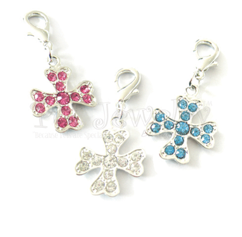 Pet Jewelry Beverly Hills 3p1 Pet Charms Sets- Dog Charms- Collar Charms- Dog Collar Charms With Swarovski Crystals