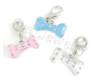 Pet Jewelry Beverly Hills 3p3 Pet Charms Sets- Dog Charms- Collar Charms- Dog Collar Charms With Swarovski Crystals