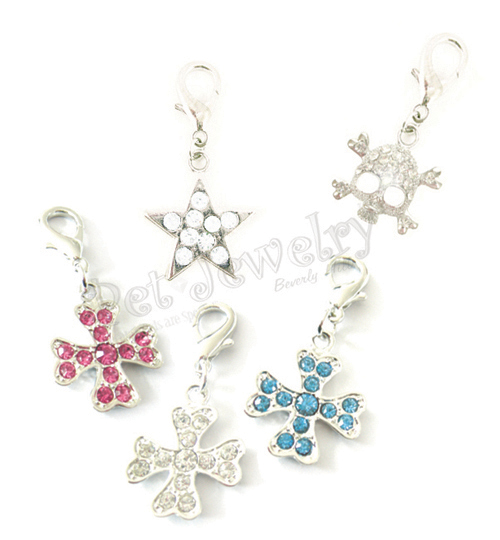 Pet Jewelry Beverly Hills 5p1 Pet Charms Combos- Dog Charms- Collar Charms- Dog Collar Charms With Swarovski Crystals