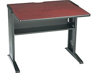 Safco 1931 48 x 28 Inch Computer Desk with Reversible Top