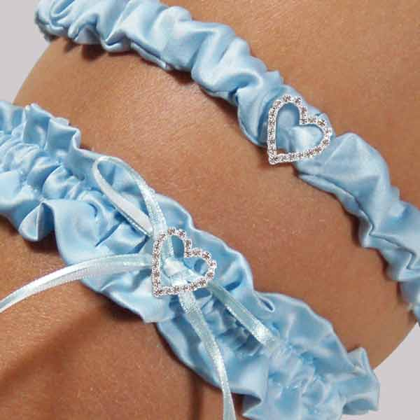 Cathys Concepts 3120B Blue Crush Wedding Garter