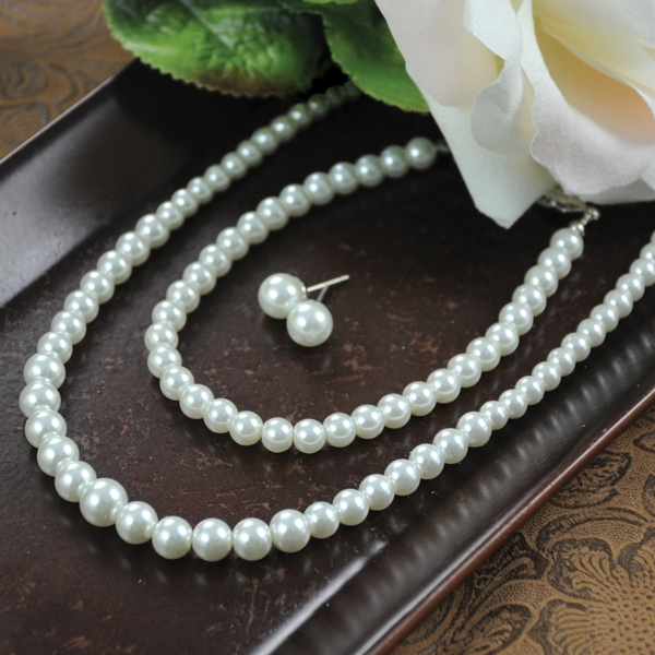 Cathys Concepts S9618SW Graduated 3 Piece Pearl Jewelry Collection