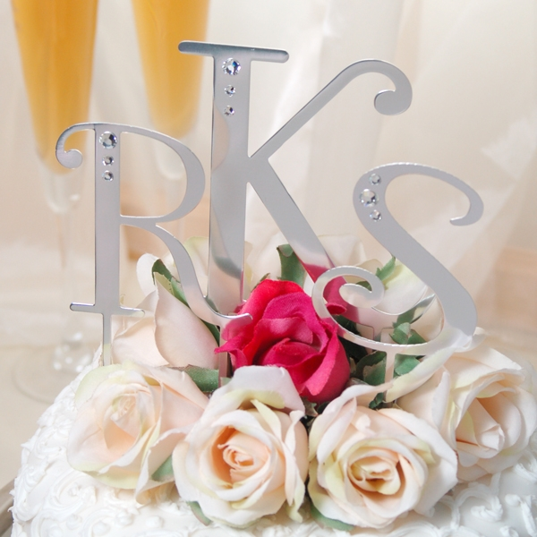 cake toppers letters. These jeweled cake toppers are