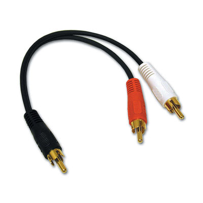 Cables To Go 03161 Value Series Rca Plug-Rca Plug X 2 Y-Cable