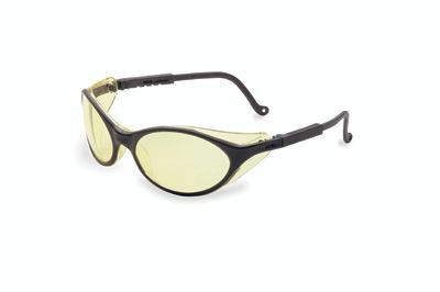 Uvex UVXS1601 Safety Glasses Black Frames / Amber Lens