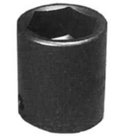 K Tool International KTI38116 1/2 Inch Drive Standard 6 Point Impact Socket 16mm