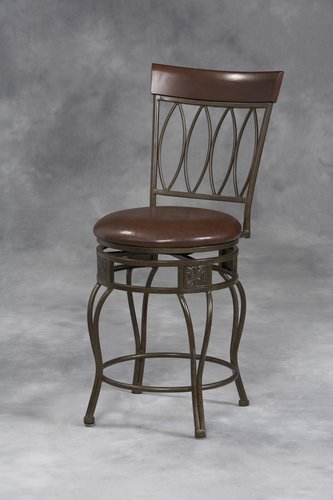 Linon 02563MTL-01-KD-U Four Oval Back Bar Stool 30 inch- Matte Bronze