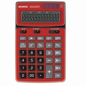 "Monroe 240ZR 6.81""L x 4.17""W x 1.02""H 12 Digit Calculator"