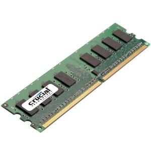 Crucial 2GB DDR2 SDRAM Memory Module - 2GB - 667MHz DDR2-667/PC2-5300 - Non-ECC - DDR2 SDRAM - 240-pin DIMM
