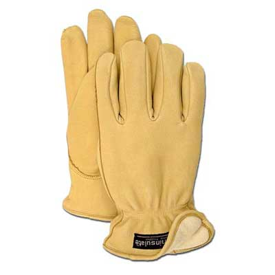 Boss Manufacturing 4185L Grain Deerskin With Thinsulate Pack Of 6
