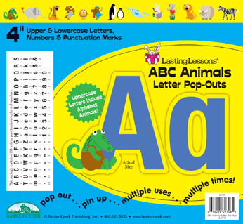 Barker Creek LL-1706  ABC Animals Letter Pop-Outs