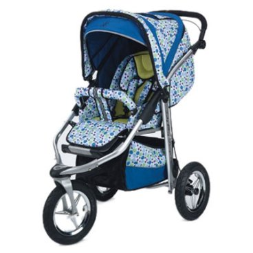 Baby Bling Design Company BBCP333P  Metamorphosis All Terrain Jogging Stroller in Caribean Peacock