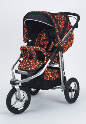 Baby Bling Design Company BBFR333P Metamorphosis All Terrain Jogging Stroller in Fire Tip