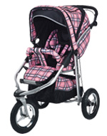 Baby Bling Design Company BBPP333P Metamorphosis All Terrain Jogging Stroller in Papillion Pink