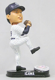 New York Yankees Kei Igawa Forever Collectibles Blatinum Bobblehead (Home)