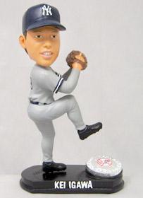 New York Yankees Kei Igawa Forever Collectibles Blatinum Bobblehead (Road)