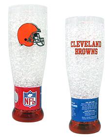 Cleveland Browns Crystal Pilsner Glass