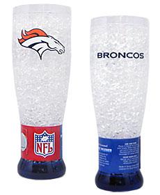 Denver Broncos Crystal Pilsner Glass