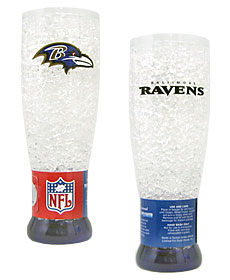 Baltimore Ravens Crystal Pilsner Glass
