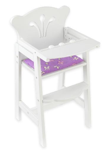 KidKraft 61101 Lil Doll High Chair Pink/White