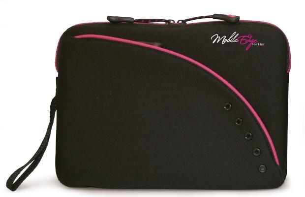 Mobile Edge MESSU1-8.9X SlipSuit- Black-Pink 8.9- Ultra Portable Neoprene Sleeve