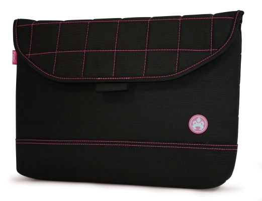 Mobile Edge ME-SUMO88130 13   Nylon Sleeve Black with Pink Stitching