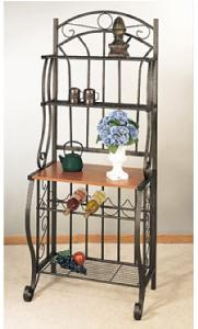 Old Dutch 063CP 27.25 Inch x 16 Inch x 68 Inch Copper Bakers Rack with Wine Rack