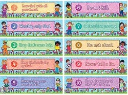 Teacher Created Resources Tcr7077 Headliners Ten Commandments