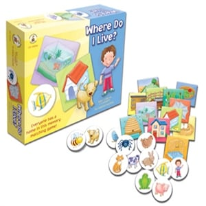 Carson Dellosa Cd-140046 Where Do I Live Early Childhood Game
