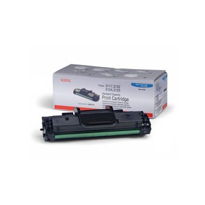 Xerox Black Toner Cartridge For Phaser 3117 and 3122 Printers 3000 Page Black 106R01159