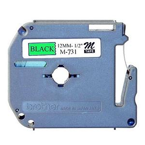 Brother M731 Non-Laminated Tape Cartridge - 0.5    x 26.2  - 1 Tape - Non-Laminated Tape