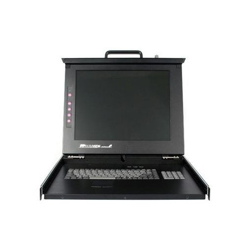 Startech DuraView 17    LCD Rackmount Console with 8 Port KVM - 8 Computer(s) - 17    Active Matrix TFT LCD - 8 x D-Sub (HD-15) Keyboard/Mouse/VGA - 1U 19    Rack-mountable - Rackmount LCD with KVM