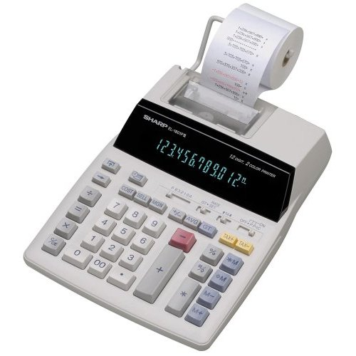 Sharp 12-Digit Calculator - 12 Character(s)  - Fluorescent - Power Adapter