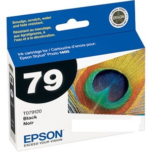Epson 79 High-Capacity Black Ink Cartridge For Stylus Photo 1400 Printer Black T079120