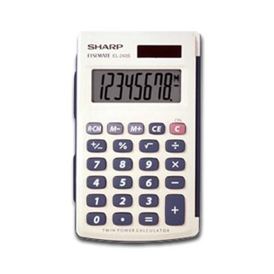 Sharp 8 Digit Handheld Calculator 8 Characters LCD Solar  Battery EL243SB