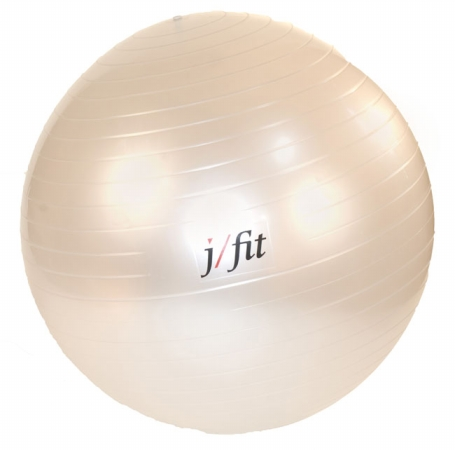 J Fit 20-0126 Stability Exercise Ball 65cm - Pearl White