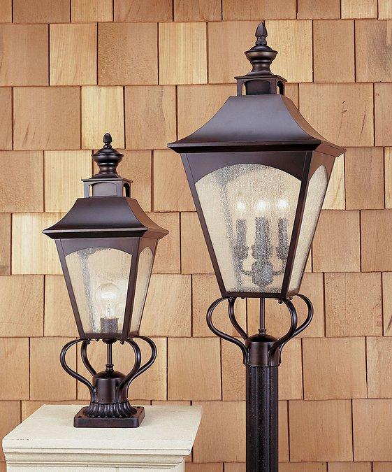 Feiss OL1007ORB Homestead Oil Rubbed Bronze Pier/Post Lantern