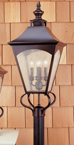 Feiss OL1008ORB Homestead Oil Rubbed Bronze Pier/Post Lantern