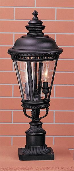 Feiss OL1907BK Castle Black Pier/Post Lantern