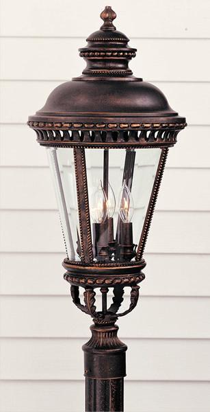 Feiss OL1908GBZ Castle Grecian Bronze Pier/Post Lantern