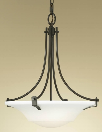 Feiss F2246/3ORB Barrington Collection Oil Rubbed Bronze 3-Light Uplight Chandelier