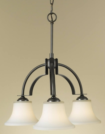 Feiss F2250/3ORB Barrington Collection Oil Rubbed Bronze 3-Light Kitchen Chandelier