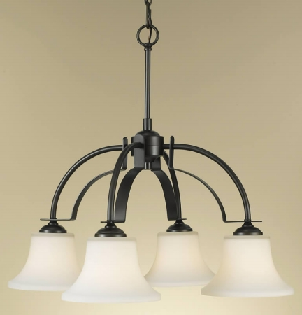 Feiss F2251/4ORB Barrington Collection Oil Rubbed Bronze 4-Light Kitchen Chandelier