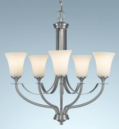 Feiss F2252/5BS Barrington Collection Brushed Steel 5-Light Chandelier