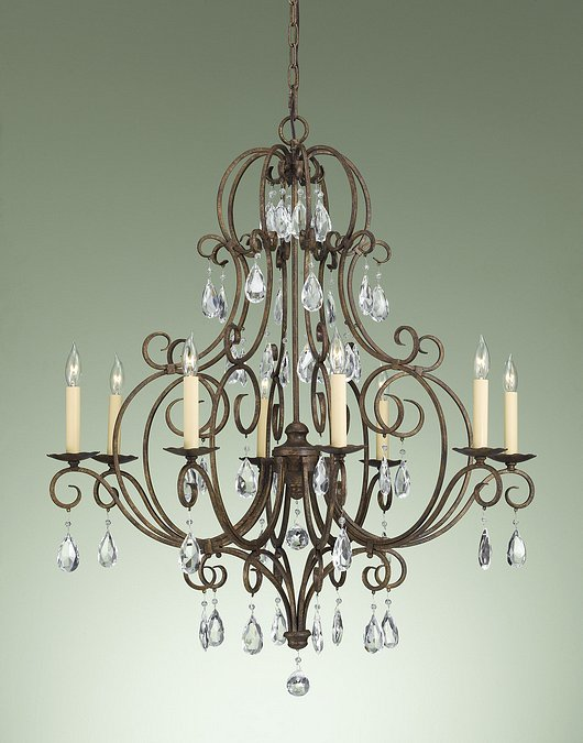 Feiss F2303/8MBZ Chateau Collection Mocha Bronze 8-Light Chandelier