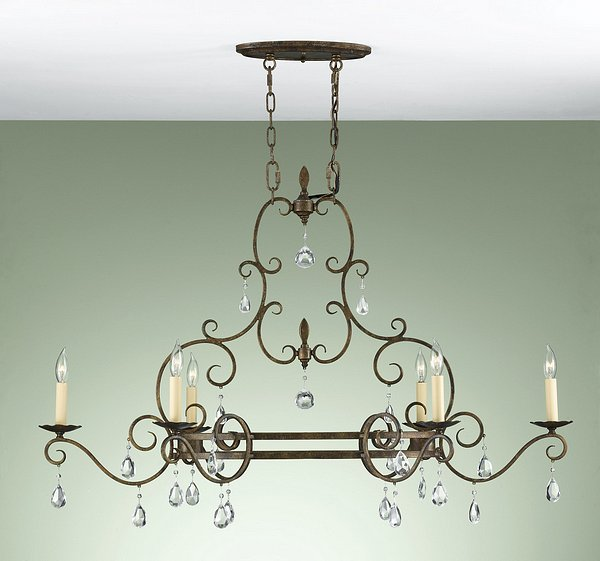 Feiss F2304/6MBZ Chateau Collection Mocha Bronze 6-Light Chandelier