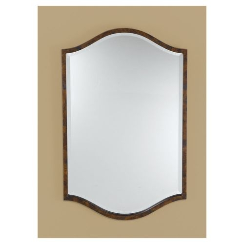 Feiss MR1077WAL Drawing Room Collection Walnut Mirror